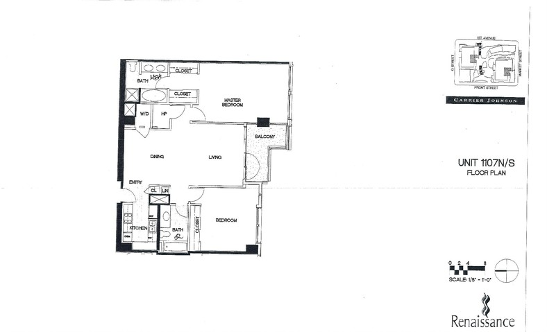 Renaissance Floor Plan Unit 1107