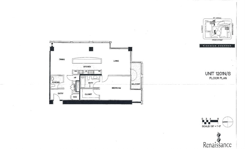 Renaissance Floor Plan Unit 1201