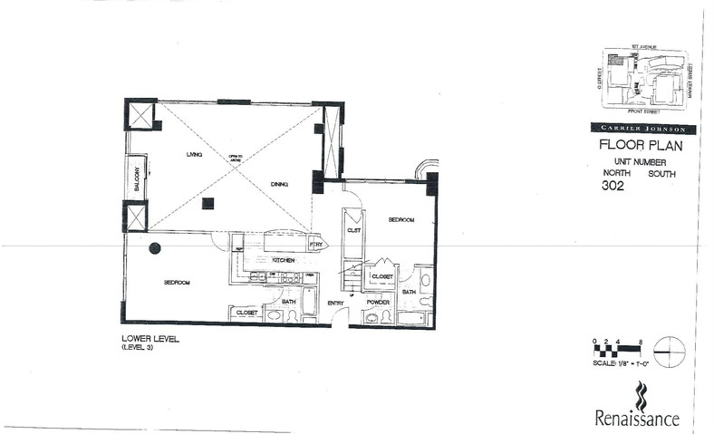 Renaissance Floor Plan Unit 302