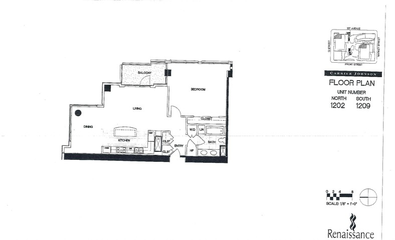 Renaissance Floor Plan Units 1202 & 1209