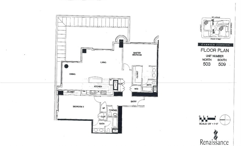 Renaissance Floor Plan Units 503 & 509