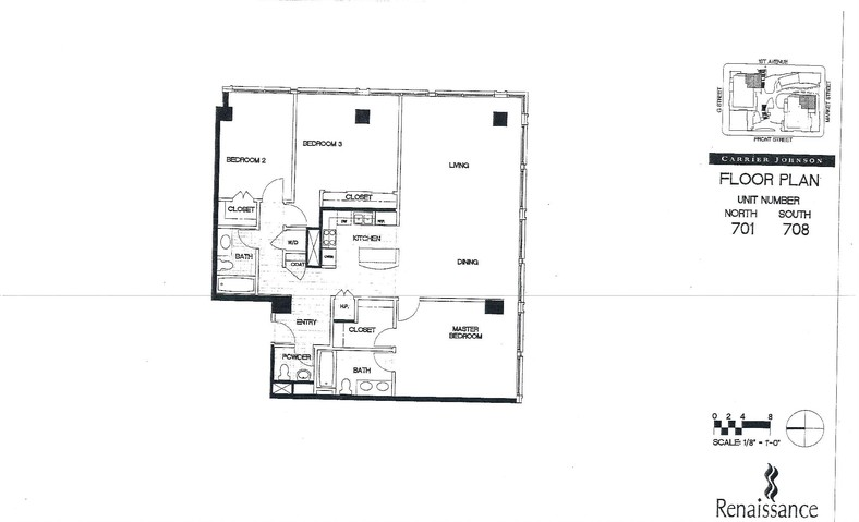 Renaissance Floor Plan Units 701 & 708