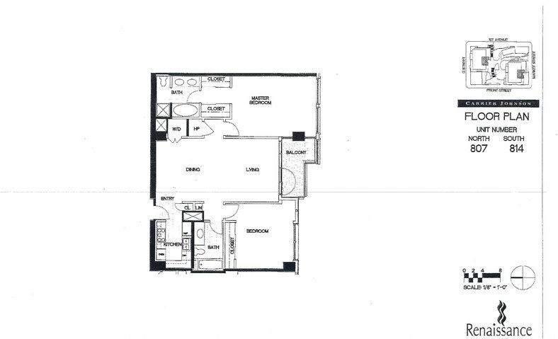 Renaissance Floor Plan Units 807 & 814