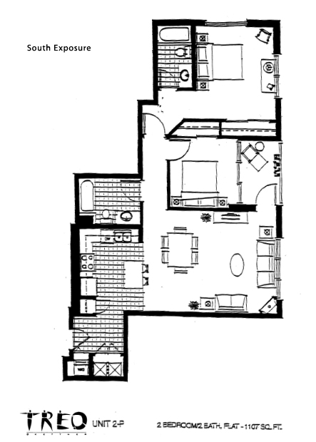 Treo Floor Plan Unit 2-F
