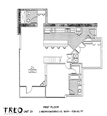 Treo Floor Plan Unit 2V 1st Floor