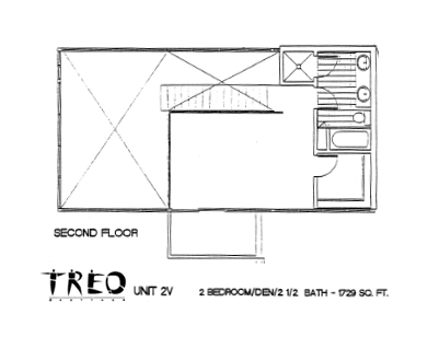 Treo Floor Plan Unit 2V 2nd Floor