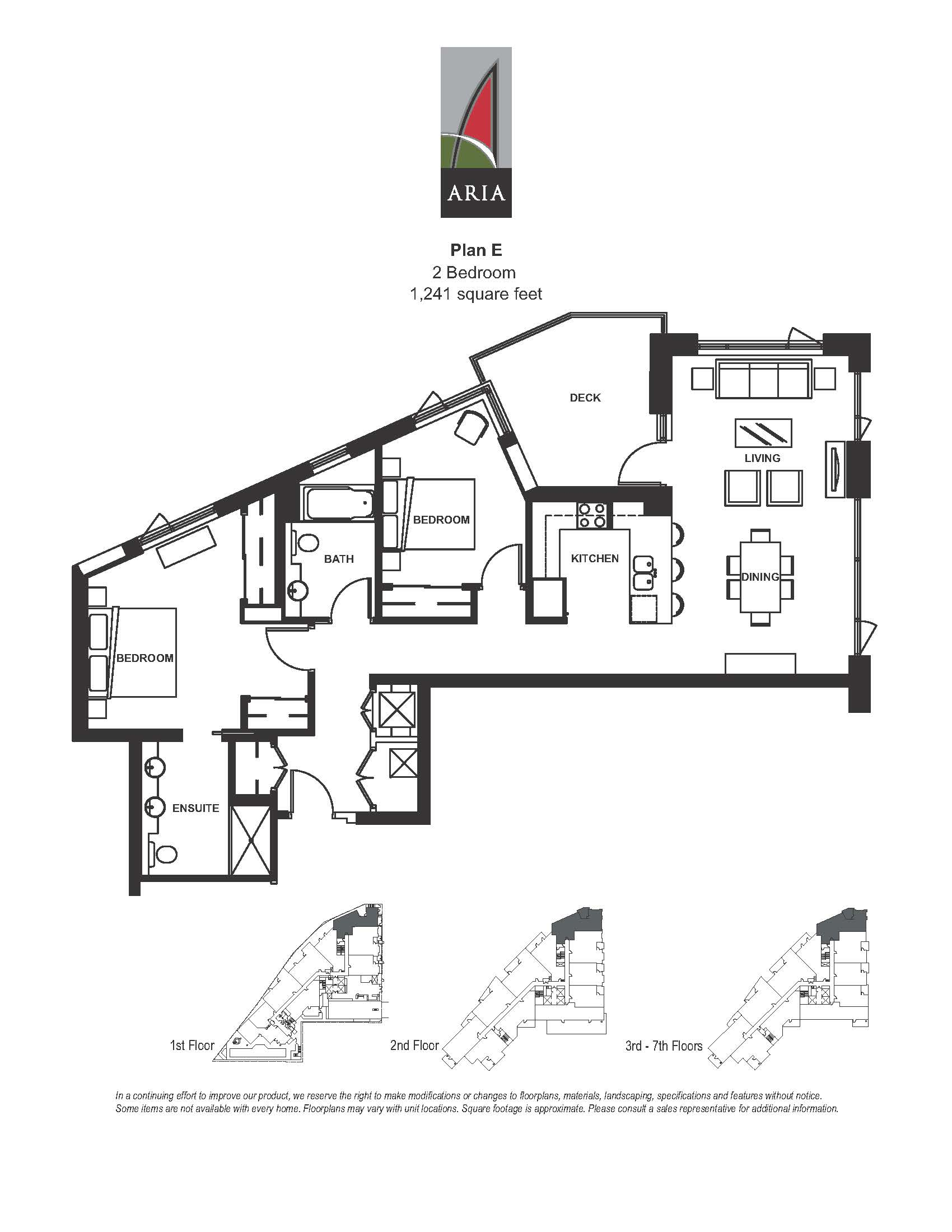 Aria 2 Bedroom - Plan E