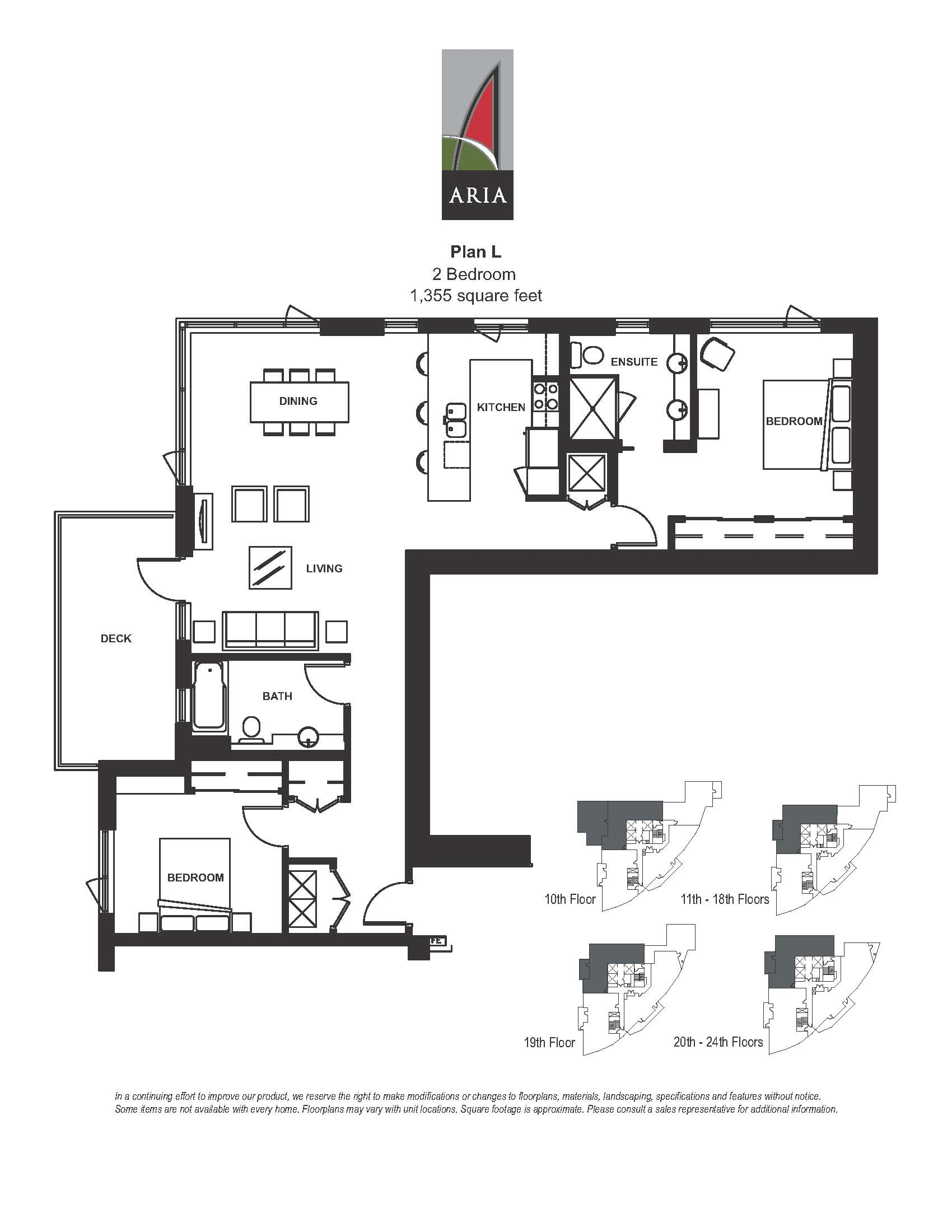 Aria 2 Bedroom - Plan L